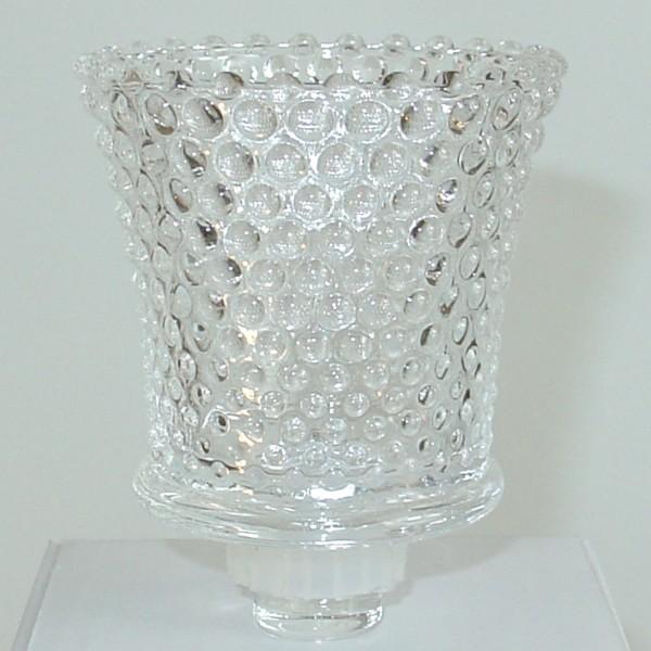 NUR AUF ANFRAGE!!! 4 x Glasaufsatz Teelichthalter 9cm Perle sehr dickes Glas mit Gummiring