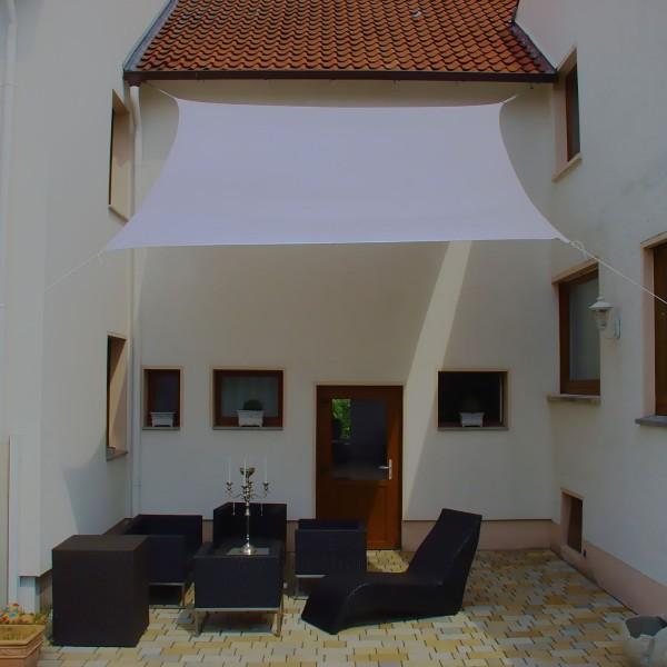 NUR AUF ANFRAGE!!! Luxus Sonnensegel 4,0 x 4,0m Viereck inkl. 4 Seilen Farbe: Grau