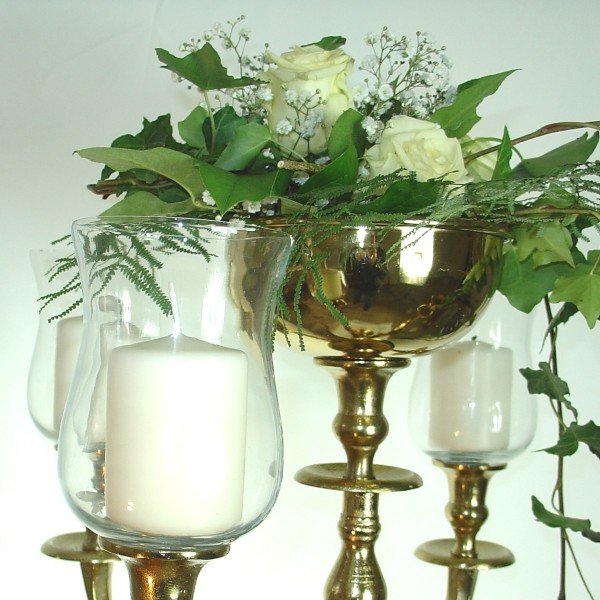 5 x Glasaufsatz 15cm Klarglas Tulpe dickes Gastroglas mit Gummiring