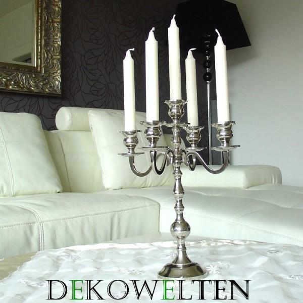Kerzenleuchter 35 BIG Silber Farbend 35cm 5-flammig Event Version für Event