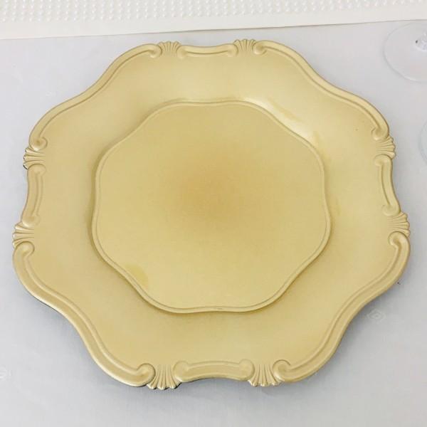 Platzteller Dekoteller Kunststoff ø 34,5cm Farbe: Gold - Ornament Eventartikel