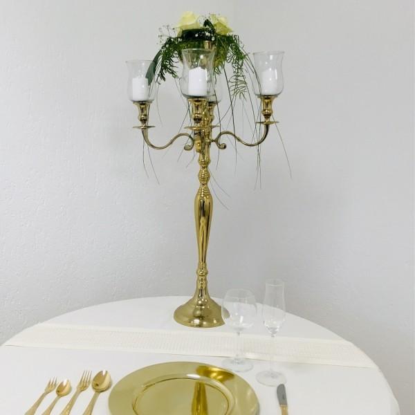 NUR AUF ANFRAGE! Kerzenleuchter 90er big Bündel Kerzenständer 78cm inkl. 4 x Glasaufsatz 1 x Blumens