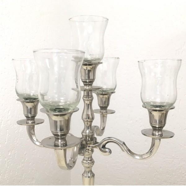 4 x Glasaufsatz Teelichthalter ca. 10 cm DICKE Gastro- Version klarglas mit Gummiring PL-D
