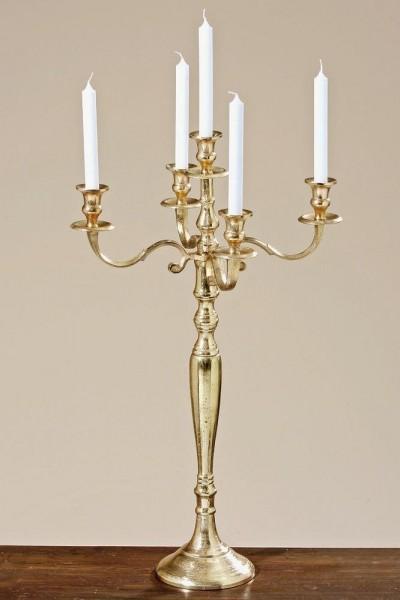 Kerzenleuchter 75 BIG Alt-Gold Antik 78cm 5-flammig Event breite - Version Event