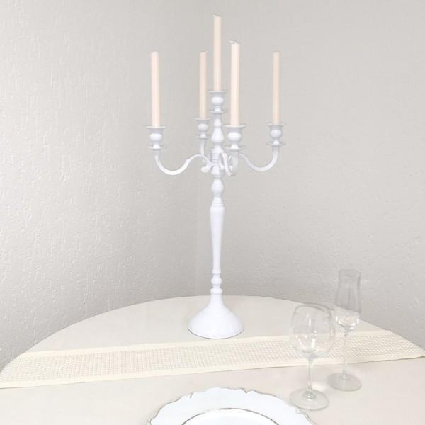 2. Wahl Kerzenleuchter 60 BIG WEISS farbend 63cm 5-flammig Event Version für Event