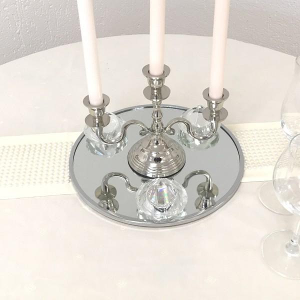 Spiegel 30cm als Untersetzer für Kerzenleuchter oder Platzteller oder Wandspiegel