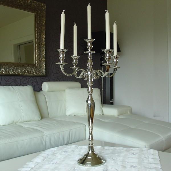 Kerzenleuchter 75 BIG Silber Farbend 78cm 5-flammig breite Version für Event