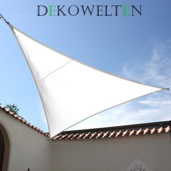 Luxus Sonnensegel 4,50m dreieck gleichschenklig inkl. 3 Seilen Farbe: Weiß