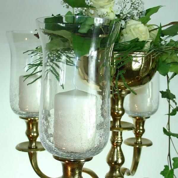 NUR AUF ANFRAGE!!! Glasaufsatz 18cm crackliert / klar mit Gummiring