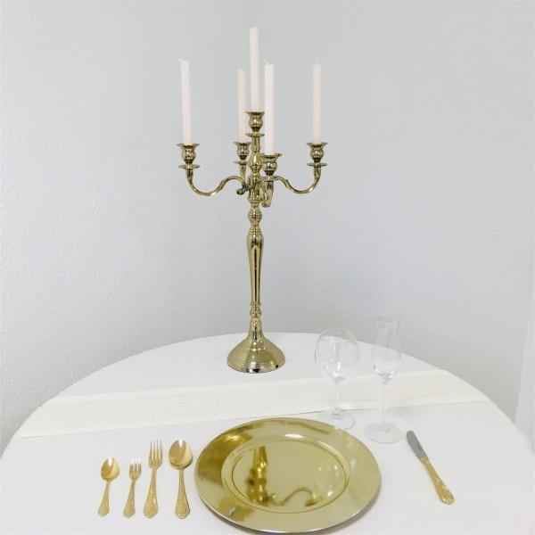 Kerzenleuchter 60 BIG Gold - Shiny farbend 63cm 5-flammig Event Version für Event