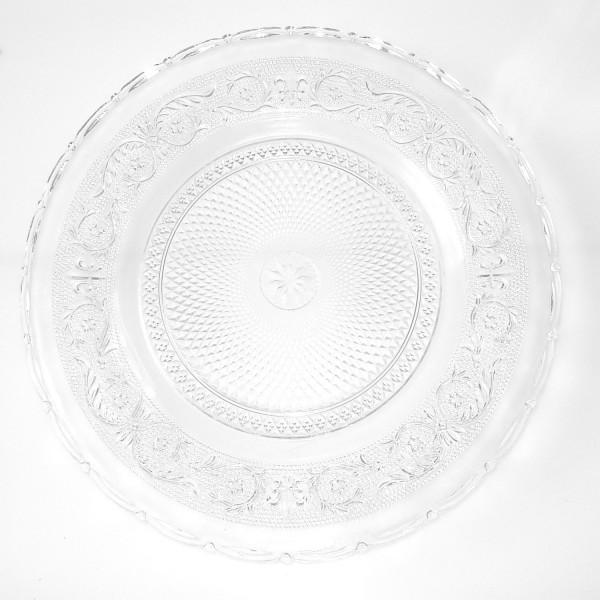 Platzteller Dekoteller Glas Dickes Ornamentglas ø 30,5 cm Eventartikel