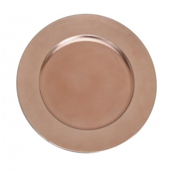 Platzteller Dekoteller Kunststoff ø 33cm Farbe: Rose - Gold / Kupfer blanck Eventartikel