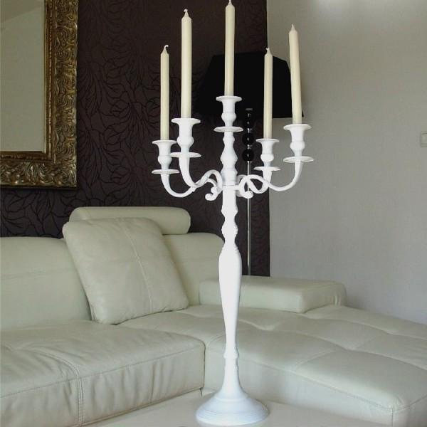 Kerzenleuchter 75 BIG Weiss Farbend 78cm 5-flammig breite Version für Event