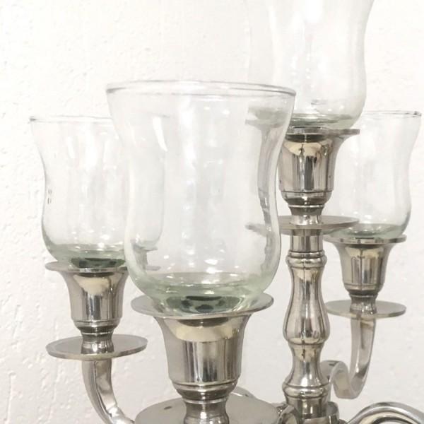 Glasaufsatz Teelichthalter ca. 10 cm DICKE Gastro- Version klarglas mit Gummiring PL-D