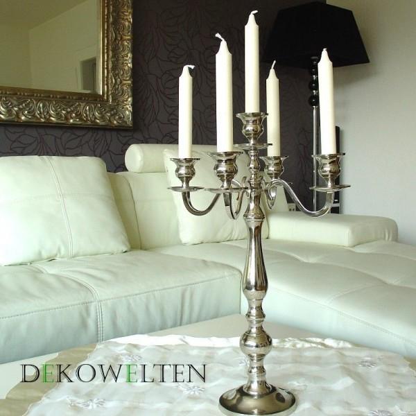 Kerzenleuchter 50 BIG Silber Farbend 50cm 5-flammig Event Version für Event
