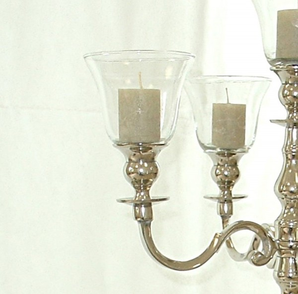 5 x Glasaufsatz Teelichthalter 11cm dicke Gastro-Version klarglas mit Gummiring