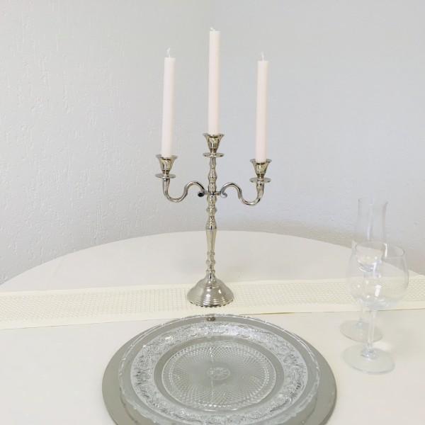 Kerzenleuchter 30cm Silber Farbend 3-flammig Event Version für Event
