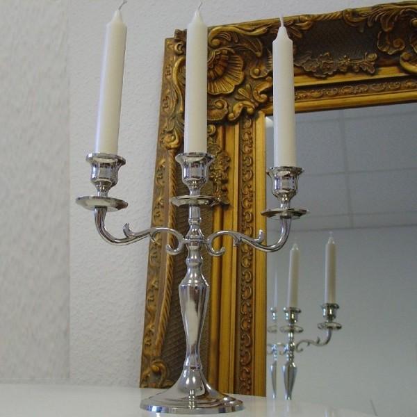 Kerzenleuchter 26cm Silber Farbend 3-flammig Event Version für Event