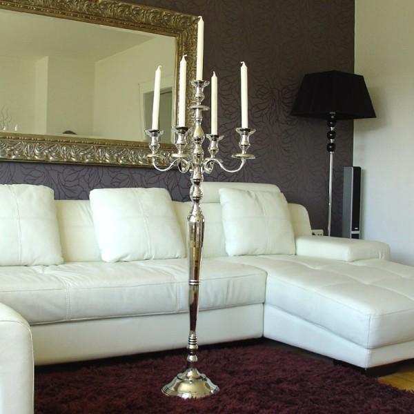 Kerzenleuchter 125cm BIG Silber Farbend 5-flammig breite Version für Event
