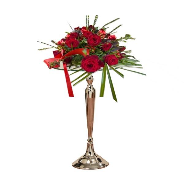 Tischdeko - Ständer Kerzenleuchter Fuß mit Glasplatte für Variable Dekorationen oder Absperrständer-