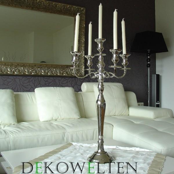 Kerzenleuchter 80 BIG Silber Farbend ca.80cm 5-flammig breite Version mit großen Glocken f
