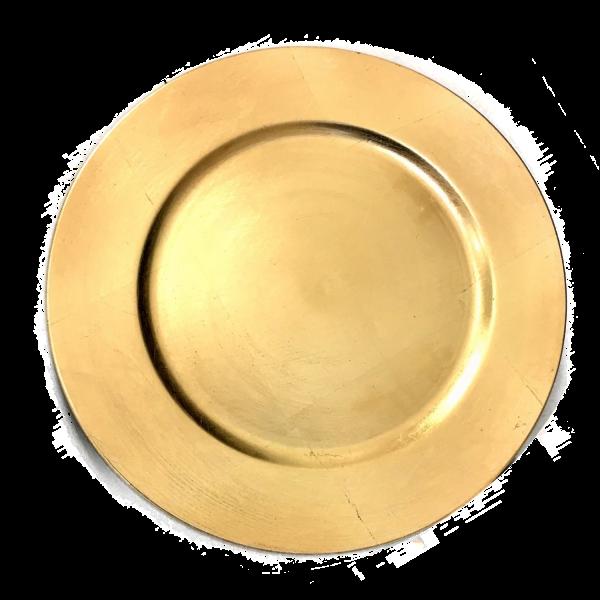 Platzteller Dekoteller Kunststoff ø 33cm Farbe: Gold Eventartikel