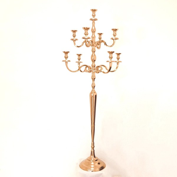 Kerzenleuchter 180cm BIG RoseGold 9-flammig breite Version für Event