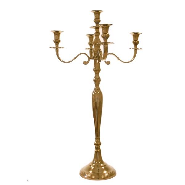NUR AUF ANFRAGE!!! Kerzenleuchter 75 BIG Rose - Gold 78cm 5-flammig Event breite Version für Event